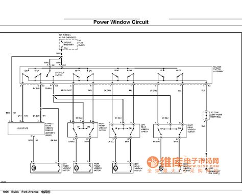 buick power window circuit control circuit circuit diagram