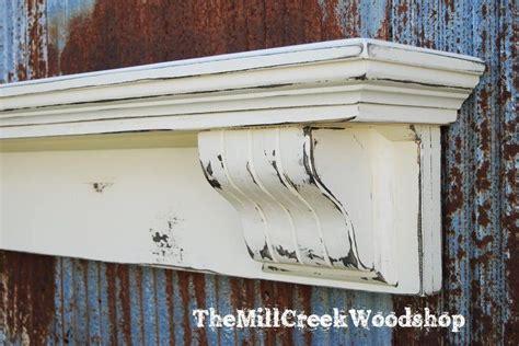 handmade corbel 60 shelf distressed fireplace mantel floating