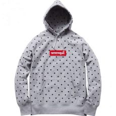 supreme x comme des garcons polka dot hoodie gray - Supreme X Comme Des Garcons Polka Dot Hoodie