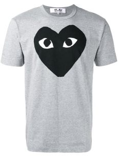 comme des garcons play t shirt real vs fake lyst comme des gar 231 ons play t shirt in gray for