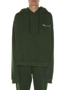vetements green polizei hoodie lyst vetements hooded polizei print sweatshirt in green