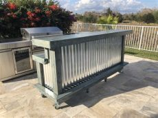 corrugated metal outdoor bar blue mini kitchen 8 2 level rustic style corrugated metal wood outdoor covered or
