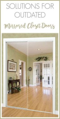 design solutions for outdated mirrored closet doors - Ideas To Update Mirrored Closet Doors