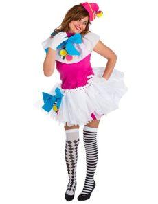 clown kost 252 m f 252 r damen bunt g 252 nstige faschings kost 252 me bei karneval megastore - Kostum Kindheitshelden Damen