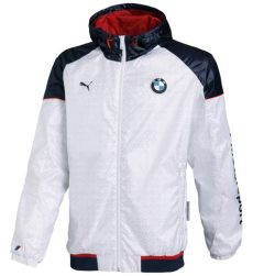 sale bmw motorsport mens m power windbreaker jacket coat white navy ebay - Bmw Motorsport Jacket For Sale