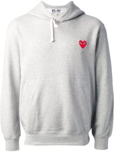 play comme des gar 231 ons embroidered sweatshirt in gray for grey lyst - Comme Des Garcons Play Sweat Shirt