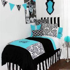 tiffany blue and damask bedroom blue black damask designer bedding collection decor 2 ur door