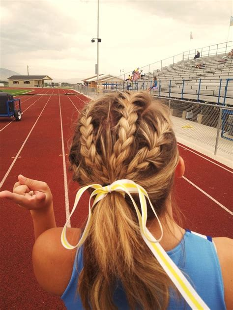 cute track field hairstyle volleyball hairstyles sporty hairstyles
