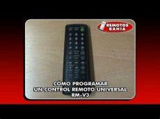 como programar un control universal sanyo c 211 mo programar un remoto universal rm v3 remotos bahia