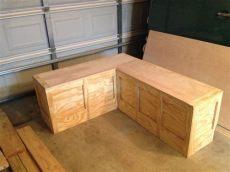 corner storage bench diy diy corner storage bench home design ideas