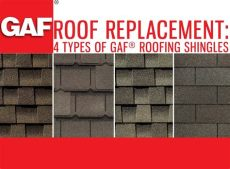 roof replacement 4 types of gaf 174 roofing shingles - Kinds Of Roof Shingles