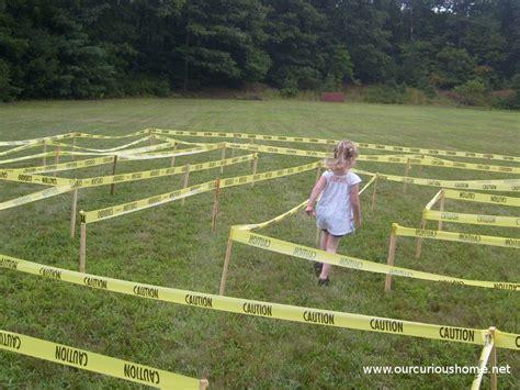 making maze caution tape guest post dh curious