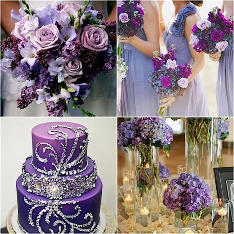 purple wedding ideas pretty details modwedding