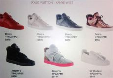 kanye west x louis vuitton sneaker prices - Louis Vuitton Shoes Price List