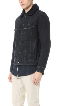 apc jacket fade lyst a p c barry denim jacket in black for