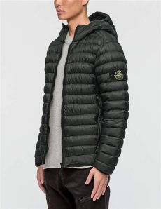 stone island garment dyed micro yarn down jacket lyst island garment dyed micro yarn hooded jacket in black for