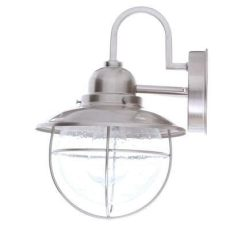 hton bay 1 light brick hton bay 1 light brushed nickel outdoor cottage wall lantern sconce boa1691h bn light brick