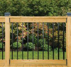 veranda railing kits veranda deck rail kit rectangular balusters the home depot canada