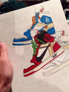 nike off white jordan 1 drawing air 1 x white quot chicago quot quot white quot quot unc quot post of the year 2019 let s get