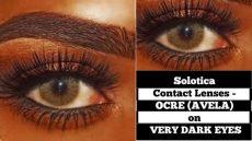 solotica hidrocor ocre contact lenses on skin dydy xoxo - Solotica Ocre On Dark Eyes