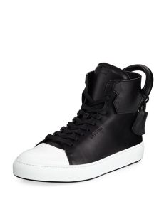 buscemi sneakers buscemi s 125mm leather high top sneakers black white neiman