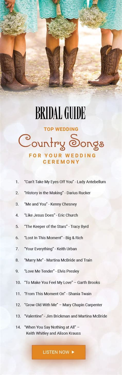 top 60 country songs play wedding wedding playlists