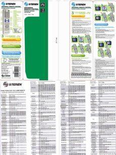 manual control universal steren rm 1600 codigos manual de uso rm 1100 2