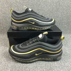 nike air max 97 plus black and gold high quality nike air max 97 playstation black gold sneakers s sport running shoes