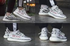 yeezy boost 350 v2 whitecore blackred on feet adidas yeezy boost 350 v2 quot zebra quot white black cp9654 sole look