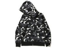 bape shark hoodie black camo bape city camo shark zip hoodie black