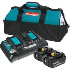 makita lxt battery charger makita 18 volt lxt lithium ion battery and dual port charger starter pack 5 0ah bl1850b2dc2x