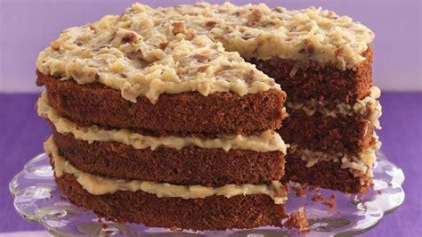 german chocolate cake coconut pecan frosting recipe pillsbury