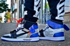 2017 white x air 1 fragment custom royal blue white shoes comfortable mens - Off White Jordan 1 Blue Outfit