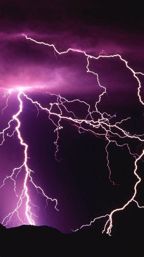 purple lightning iphone 5 wallpaper purple lightning storm