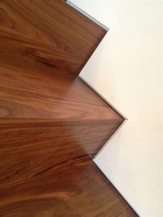 custom walnut stairs with the use of a fry drywall reglet providing a 1 2 quot reveal consistent to - Drywall Reglet