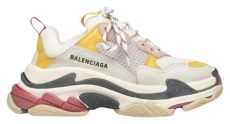balenciaga multicolor triple s sneakers balenciaga multicolor classic s sneaker yellow white leather speed flat trainer