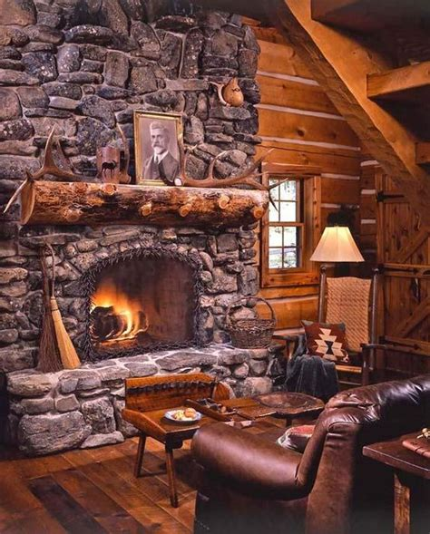 log cabin fireplace rustic fireplace designs pinterest