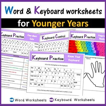 microsoft word keyboard worksheets computer creations tpt