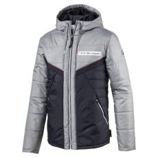 bmw motorsport jacket puma fleece bmw motorsport vent padded jacket in gray for lyst