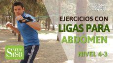 ejercicios para abdomen con ligas de resistencia ejercicios con ligas para un abdomen plano salud180