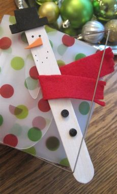 diy craft stick santa snowman craft for kids designed to dwell gifts