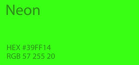 neon green color paint code swatch chart rgb