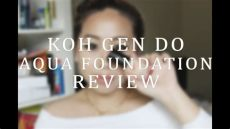 koh do aqua foundation review - Koh Gen Do Foundation Review