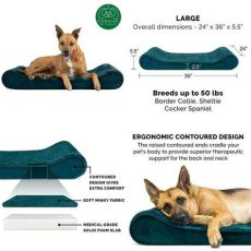 pooch planet luxe lounger available in colors styles furhaven pet bed orthopedic micro velvet ergonomic
