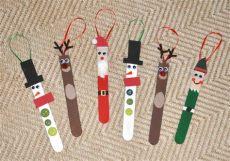 diy craft stick santa snowman craft for kids diy popsicle stick ornaments barone