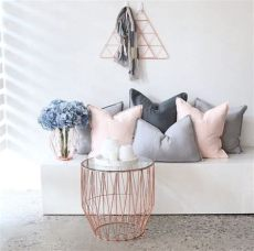 blush grey copper curtains now this is a match made in heaven eadie pink and grey luca cushions teamed with copper www