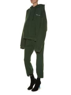 vetements polizei hoodie kaufen vetements hooded polizei print sweatshirt in green lyst