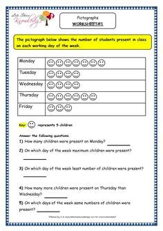 grade 3 maths worksheets pictorial representation data 15