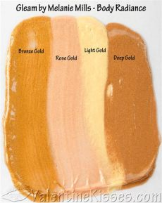kisses gleam by melanie mills radiance all 4 shades pics swatches review - Gleam Melanie Mills
