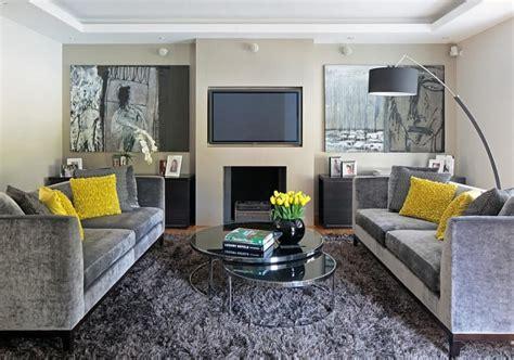 15 gray yellow living room design ideas https